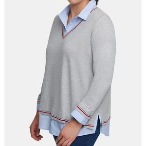 Tommy Hilfiger Layered-Look Collared Sweater